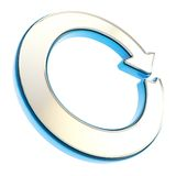 Circled round arrow copyspace emblem glossy icon Royalty Free Stock Photography