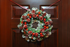 Circled wreath with knops and bead hangs Royalty Free Stock Photo