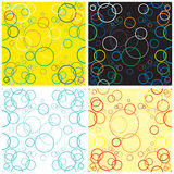 Circles. Seamless vector pattern with multi-coloured circles Royalty Free Stock Photography