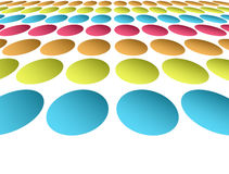 Circles. Blue yellow orange and  fuchsia  circles  over white background Royalty Free Stock Photos