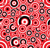 Circles. Raster version of retro seamless circle background - black, white and red Royalty Free Illustration