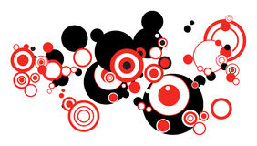 Circles. Illustrated and colored abstract circles frame pattern Royalty Free Stock Photography