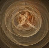 Circles. Abstract fractal of light orange circles and swirls Royalty Free Stock Photography