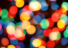 Circles. Blur color circles on black background Royalty Free Stock Photography
