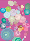 Circles. A lot of circles in different colors stock illustration