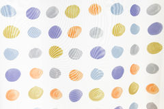 Circles. Funky circles pattern on hite background Royalty Free Stock Photography