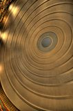 Circles. An abstract image of a rounded ceiling Stock Image