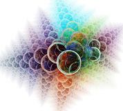 Circles abstract background on Royalty Free Stock Photos