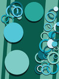 Circles abstract background vector Stock Photography