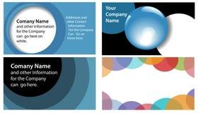 Circles Abstract Company Adreskaartje 4 omhoog Stock Foto's