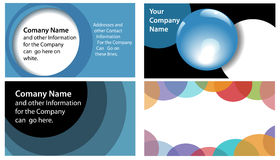 Circles Abstract Company Business Card 4 Up. Abstract Circles and Spheres theme in company business card designs 4 up format. Useful for other backgrounds royalty free illustration