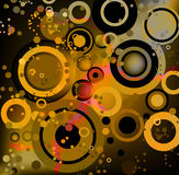 Circles abstract grunge Stock Image