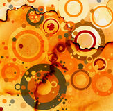 Circles abstract grunge Stock Photos