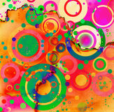 Circles abstract grunge Royalty Free Stock Images