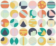 Circles abstract seamless pattern Royalty Free Stock Images