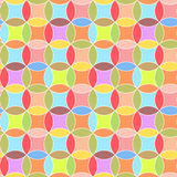 Circles, Abstract Vector Seamless Pattern. Royalty Free Stock Images
