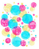 Circles. Abstract watercolor with circle.Can be used as greeting card, invitation card for wedding, birthday and other holiday and summer background. Watercolor Vector Illustration