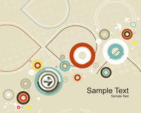 Circles arrow seamless pattern Stock Images