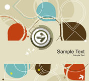 Circles arrow seamless pattern Royalty Free Stock Image