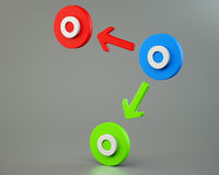 Circles with arrows. On white background royalty free illustration
