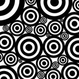 Circles background. Black and white circles background Stock Image