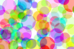 Circles background. Circles of different colors drawn on a white background Royalty Free Stock Photo