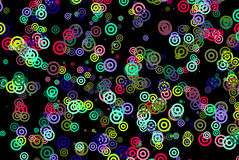 Circles Background on Black Stock Image