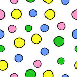 Circles on a background. The colored circles on a white background Royalty Free Illustration