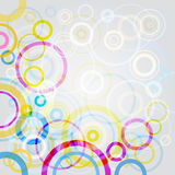 Circles background. Colourful abstract circles on white background, vector illustration Stock Photo