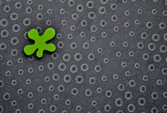 Circles background with irregular green shape Royalty Free Stock Photos