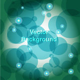 Circles Background. A lot of abstract blue circles. Vector illustration Stock Photo