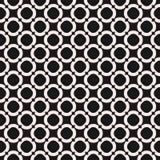Circles background, vector monochrome seamless texture Royalty Free Stock Photos
