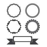 Circles badge and ribbon Stock Image