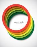 Circles banner card Royalty Free Stock Image