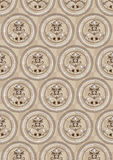 Circles on a beige background of the cells.Wallpap. Bright pattern of circles on a beige background of the cells. Wallpaper Royalty Free Stock Image