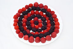 Circles Of Berries Stock Images