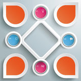 4 Circles Big Rhombus Startup Colored Infographic Royalty Free Stock Photography