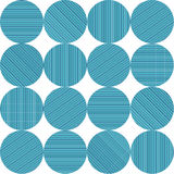Circles with blue stripes in a pattern. Circles with blue, turquoise and green stripes in a pattern Royalty Free Stock Image