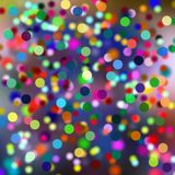 Circles, blurred colorful background. Blurred colorful vivid background with colorful circles in green, yellow, white, pink, orange, green and violet  hues Stock Image