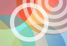 Circles bright colors gradient background Royalty Free Stock Photo