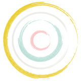 Circles Brush Pastel Royalty Free Stock Photo