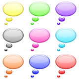 Circles bubble shiny icons set Royalty Free Stock Image