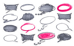 Circles and bubble speech Stock Images
