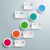 Circles Chart 5 Options Speech Bubbles PiAd Royalty Free Stock Images