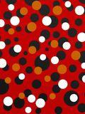 Circles and circles over red background Stock Images