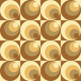 Circles in Circles Pattern. Abstract pattern of circles and squares repeats seamlessly vector illustration