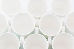 Circles. Circular empty white cups Stock Image