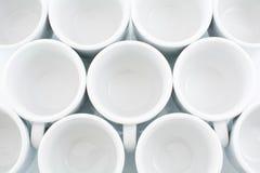 Circles. Circular empty white cups Royalty Free Stock Photos