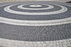 Circles in city street. Ring route of imagination.Prospect involving a sight Stock Photos