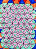 Circles. Colored circles forming between them optical illusion Royalty Free Stock Photos